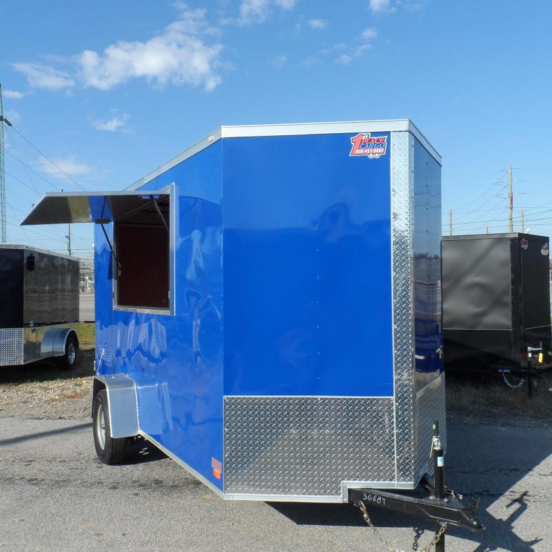 2019 Covered Wagon 6x12 7' interior blue