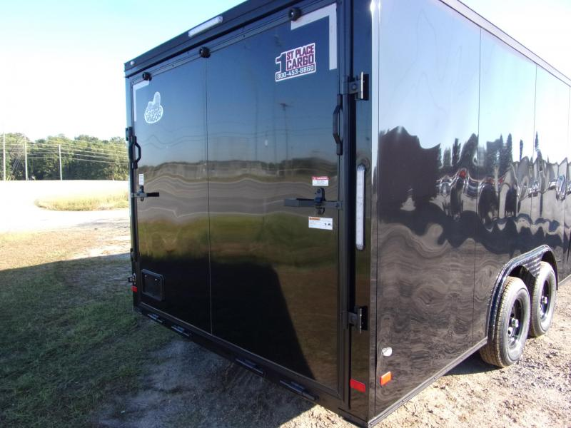 2020 Covered Wagon 8.5x20 black 10k blackout screwless carhauler