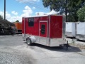 6 x 12 enclosed toy hauler trailer w bed finished