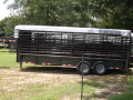 $8195-6.8 x 20 GN. Canvas Top Stock Trailer