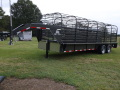 $9225-STOLL 6.8 x 24 GN. Bar Top Stock Trailer