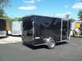 6x12 black pace american enclosed trailer