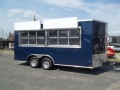 8 X 16 finished 2 window enclosed concession trailer