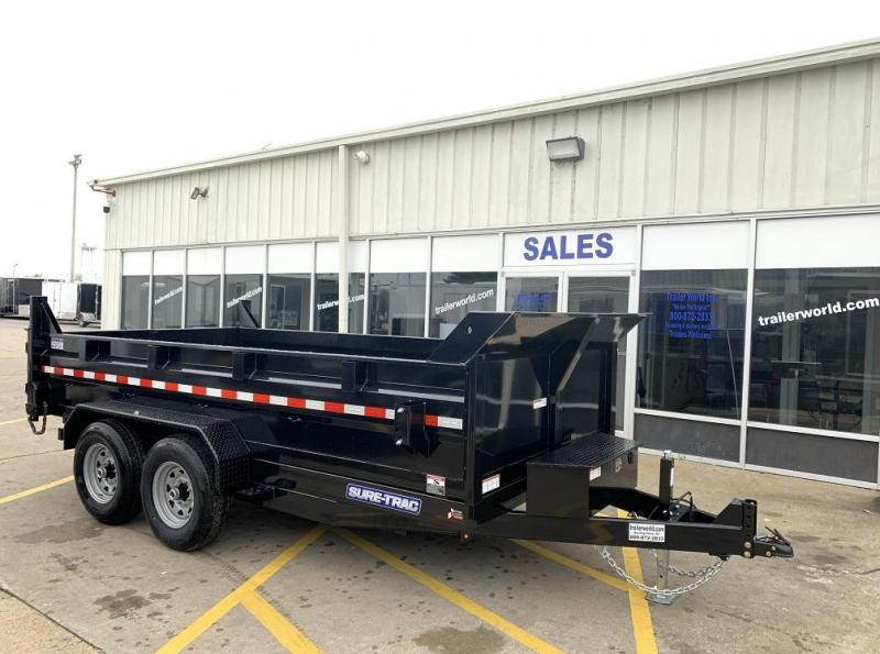 2020 Sure-Trac 14' dual ram dump trailer 14k