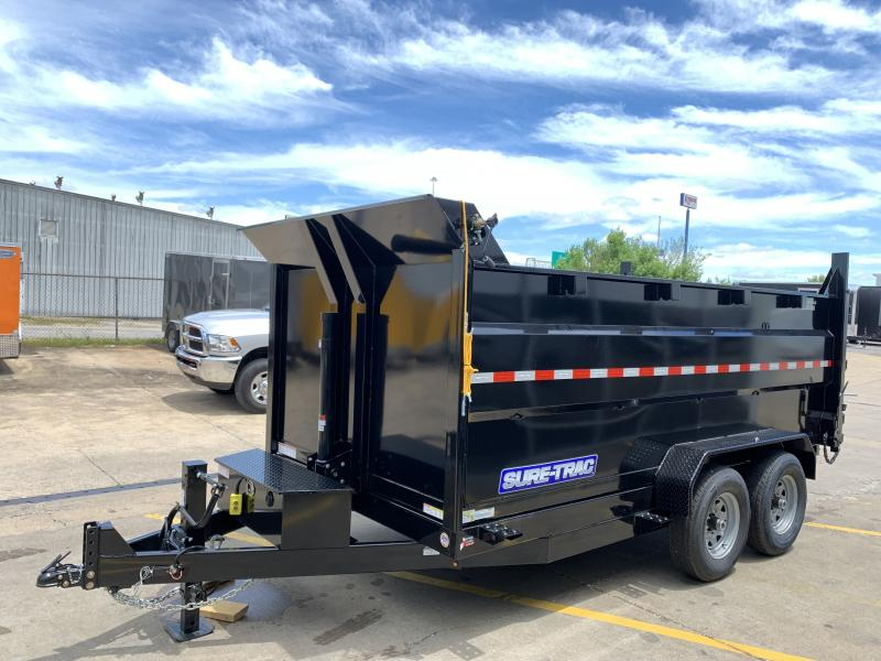2020 Sure-Trac 14' telescopic dump trailer
