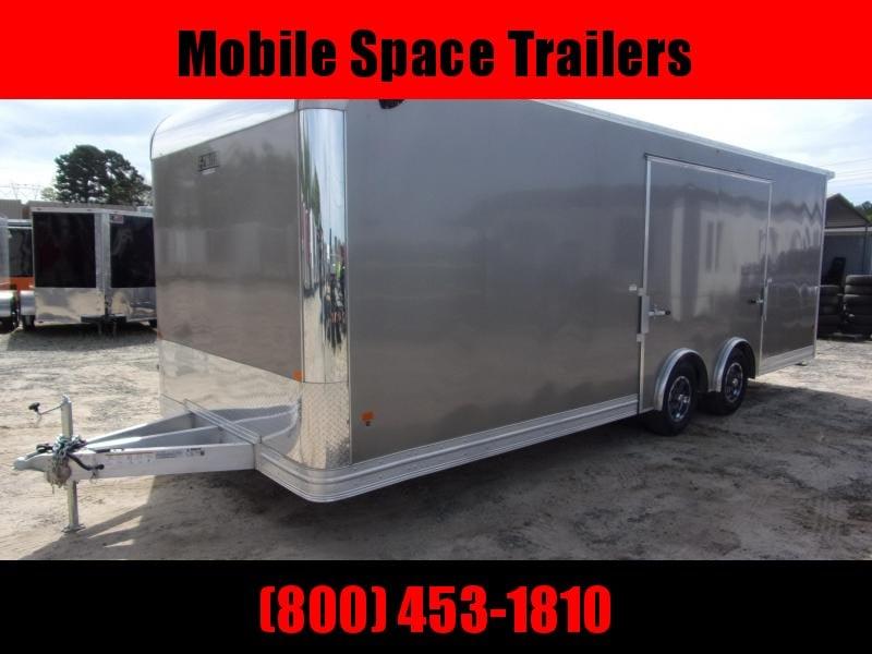2020 Mission 8.5x20 spread axle ramp door elite ecsape door