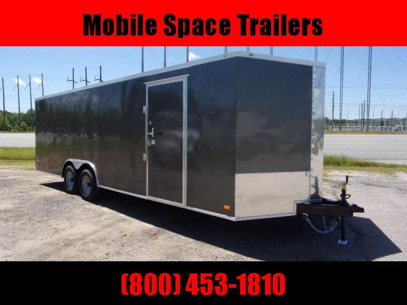 2021 Covered Wagon 8.5x24 charcoal ramp door