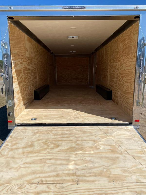 2021 Covered Wagon 8.5x24 10k black enclosed carhauler w/ ramp door