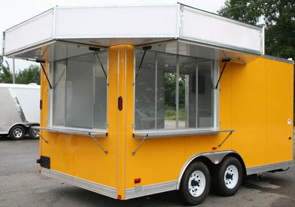 Buy Sell New Used Trailers 85 X 16 Concession Trailer W Marquee Awnings At TrailerShopper