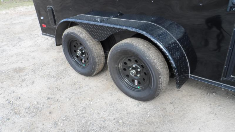 2019 Covered Wagon 7x14 blackout ramp door