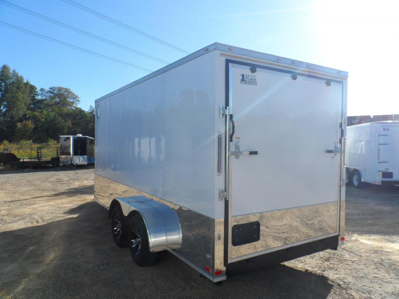 2019 Covered Wagon 7x16 wh fin ac electric pkg awn ramp door