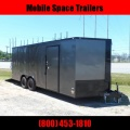 Covered Wagon Trailers 8.5x20 Char Coal  Black out ramp door Enclosed Cargo Car Hauler Stock# ECCW85