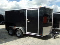 6X12 BLACK CARGO TRAILER WITH RAMP