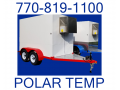 $Call-5x9 White, Red & Chrome Refrigerated Trailer